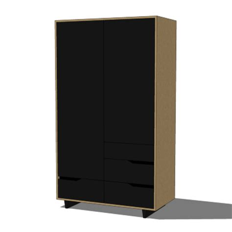 ikea solid wood wardrobe ikea mandal wardrobe 3d model formfonts 3d models textures