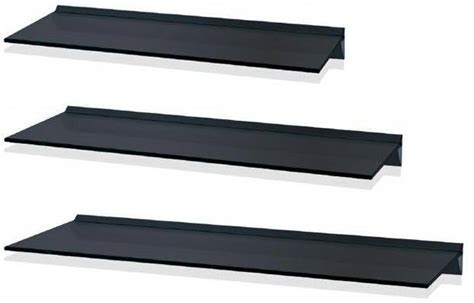 floating black glass shelves levv black glass floating wall shelf shelves available