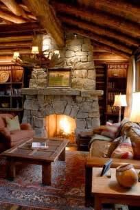 log cabin fireplace plain amazing