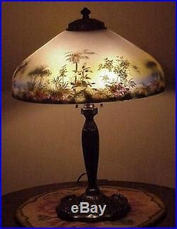 handel reverse painted ls for sale antique pittsburgh arts crafts reverse painted art glass