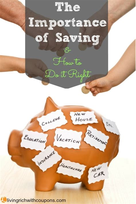 importance  saving       living rich  couponsliving rich  coupons