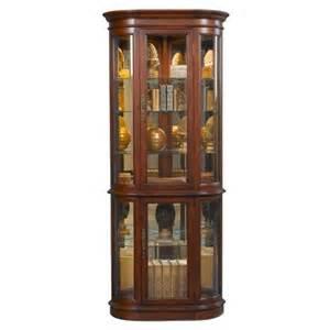 Corner Curio Cabinet Shelves Hamilton Corner Curio Cabinet
