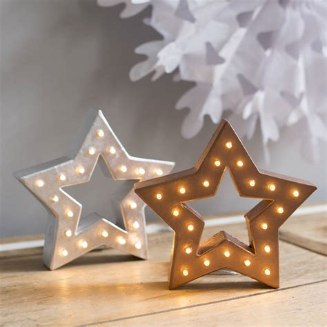 battery operated star lights handmade battery operated marquee star light by the white