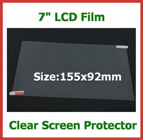 Screen Guard Model 7inc Universal universal 7 inch lcd screen protector for tablet pc pda gps mp4 size 155x92mm protective no