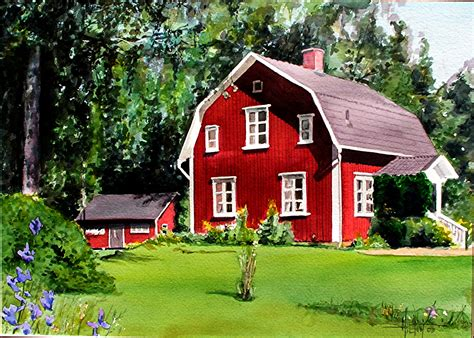 swedish home phil hilton s watercolors commisions