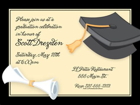 43 printable graduation invitations free premium