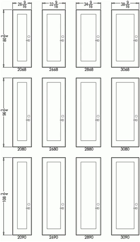 standard interior closet door sizes