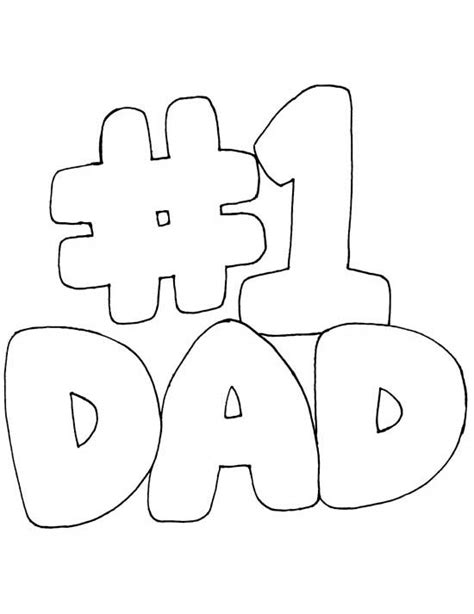 Printable Coloring Pages For Dads | printable coloring pages for dad cute sketches