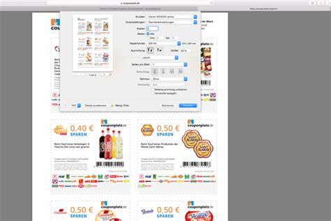 nach hause schicken couponplatz coupons einfach am pc zusammenstellen
