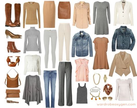 neutral colors clothing feminine capsule wardrobe of neutrals wardrobe oxygen