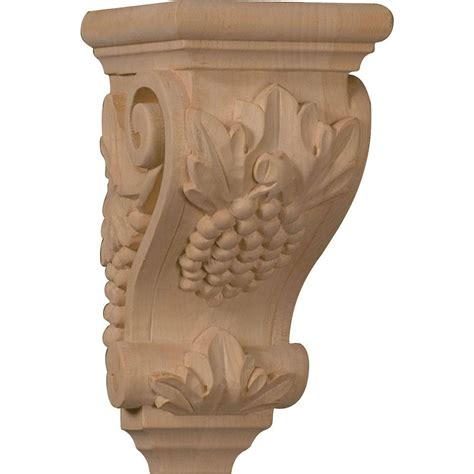 Mahogany Wood Corbels Ekena Millwork 5 In X 4 1 2 In X 10 In Unfinished Wood