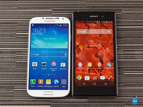 Android Vs Samsung by Sony Xperia Z1 Vs Samsung Galaxy S4 Android Pandaapp