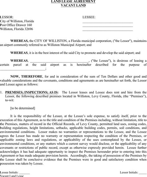 free printable land lease agreement download printable land lease agreement for free page 8