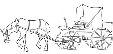free coloring pages of a horse drawn carriage