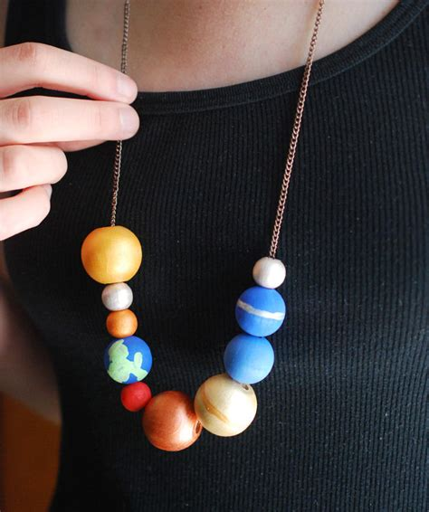 make a stellar solar system necklace handmade