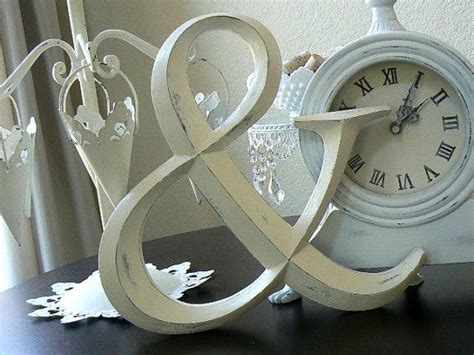 Upcycled Wedding Ivory Wall Decor or Display Ampersand