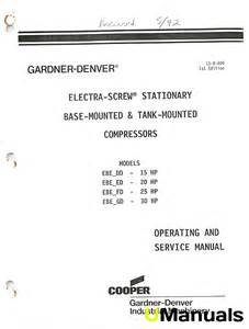 gardner denver electra compressors ebe manual umanuals