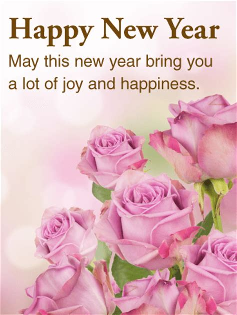happy new year may this year bring beautiful pink happy new year card birthday