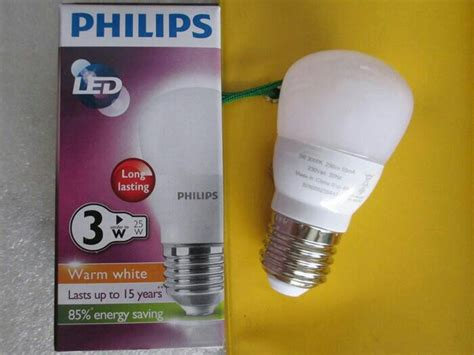 Lu Led Kuning Philips 3 Watt by Jual Bohlam Lu Philips Led Bulb 3 Watt Kuning