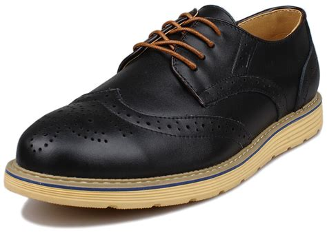Dress Shoe And Sneaker by Mens Dress Formal Casual Leather Flat Oxfords Wingtip Brogue Casual Office Shoes Ebay