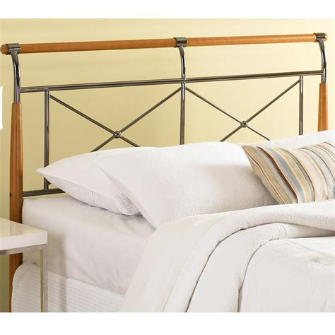 metal and wood headboards wood and metal headboard amisco 14393 fargo metal and
