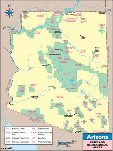 map world az arizona recreation map by maps from maps world