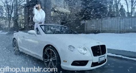 drake rolls royce snow blizzard animated gif