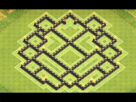 coc nazi layout new amazing th8 farming base design coc speed build doovi