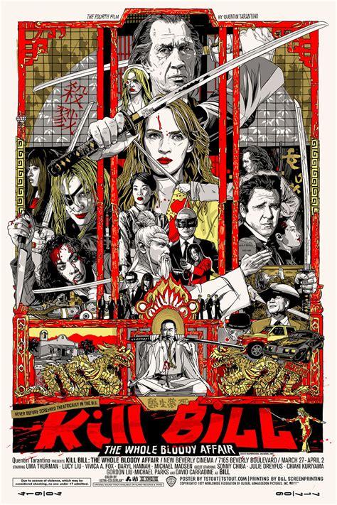 japanese film quentin tarantino kill bill the whole bloody affair mondo poster tyler