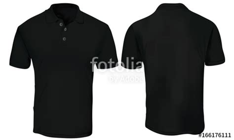 Kaos Black Id 6 Free 1 quot vector illustration of blank black polo t shirt template