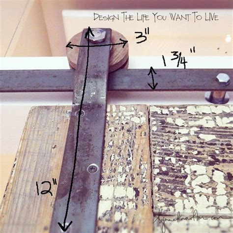 Barn Door Track Hardware How To Design The Life You Want Make Your Own Barn Door Hardware