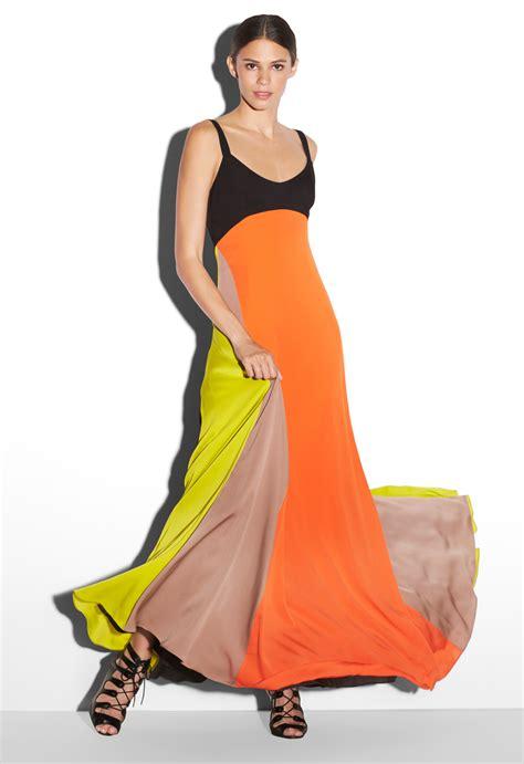 60720 Moschino Maxy Spandek milly colorblock maxi dress lyst