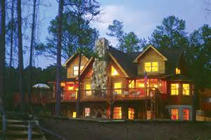 Southland Log Homes Floor Plans file southland log home by lake at dusk jpg wikimedia