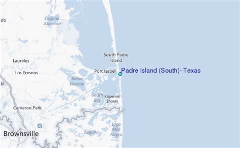 map south padre island texas padre island south texas tide station location guide