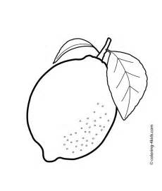 lemon color sheet lemon coloring pages and print for free