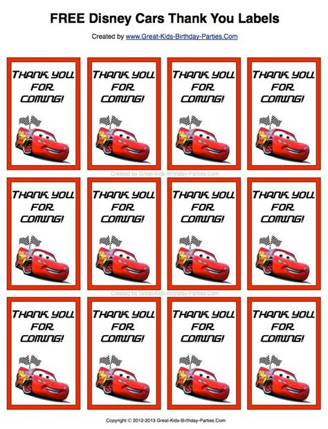 printable cars party decorations 41 best disney s quot cars quot party printables images on