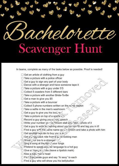 25 best ideas about bachelorette scavenger hunt on