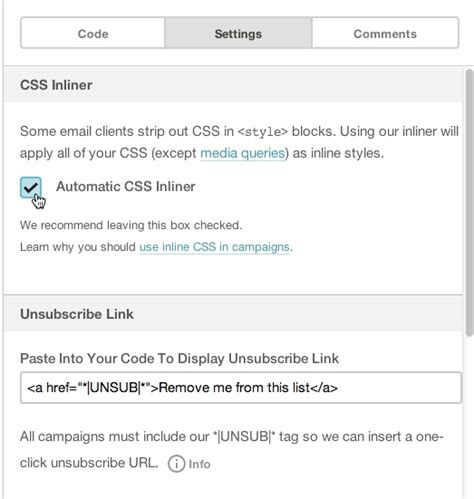 layout css mail use the css inliner mailchimp