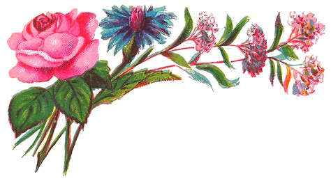 design flower rose antique images digital decorative flower corner download
