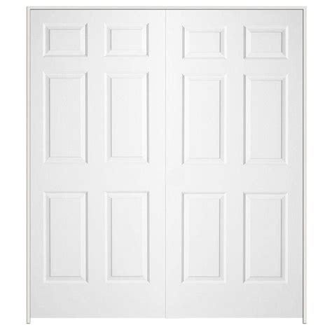 60 Closet Doors 60 In X 80 In Colonial Primed Textured Molded Composite Mdf Prehung Interior Door 901578 The