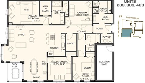 floor plans in four different floor plans 118onmunjoyhill