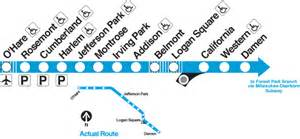 chicago blue line map blue line chicago map stop