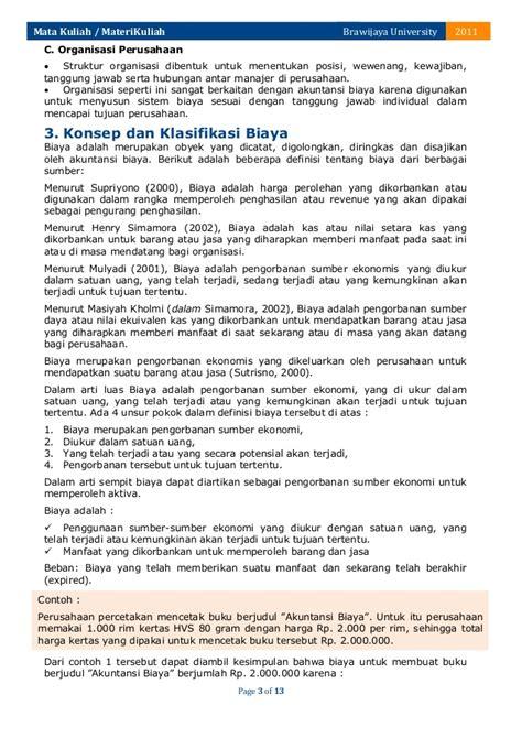 Akuntansi Biaya 2 Ra Supriyono klasifikasi biaya