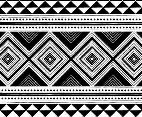 African Pattern Black And White | african tribal pattern black and white