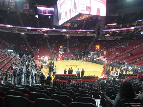 toyota center sections toyota center section 115 houston rockets