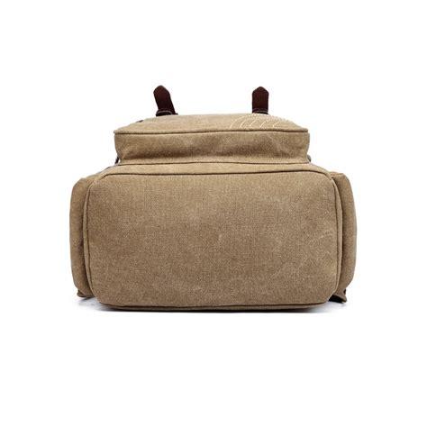 Fashion Casual Backpack Khaki e6644 kono vintage canvas backpack school casual