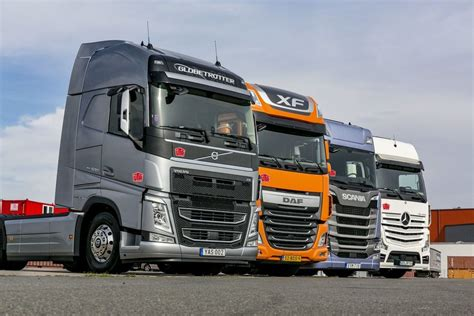 daf mercedes scania volvo comparison of four 500 hp