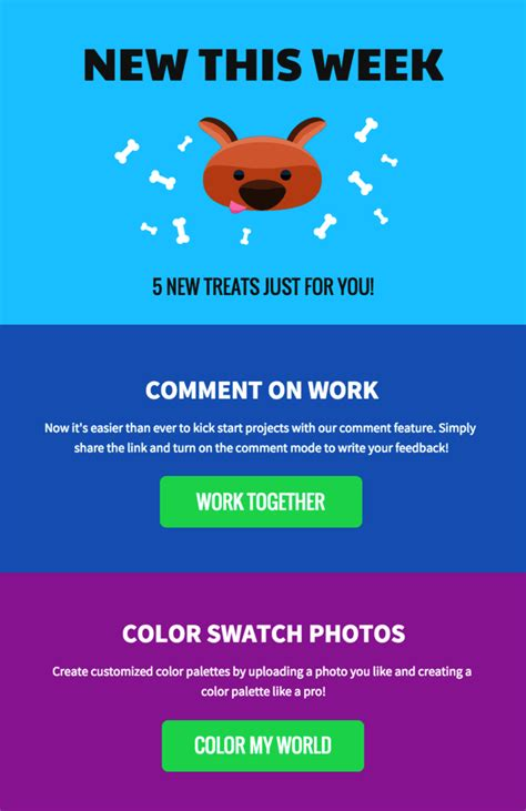 45 Engaging Email Newsletter Templates Design Tips Exles For 2018 Venngage Email Marketing Templates 2018