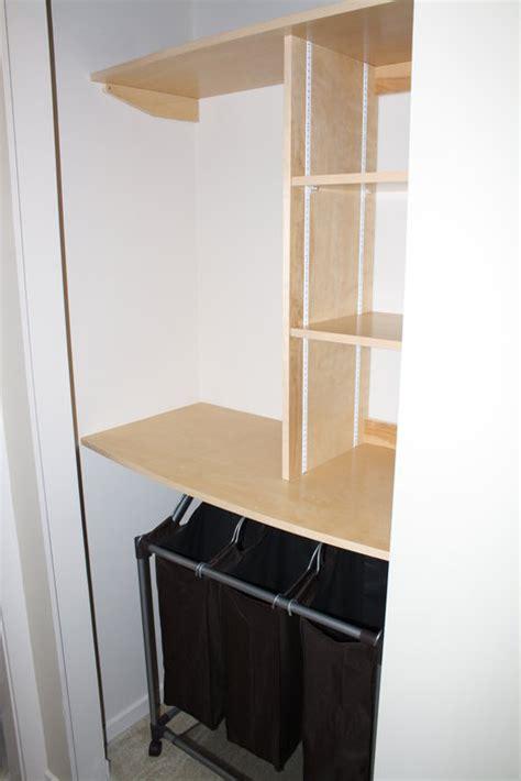 Plywood Closet Organizer by Simple Birch Plywood Closet Organizer By Jsovens