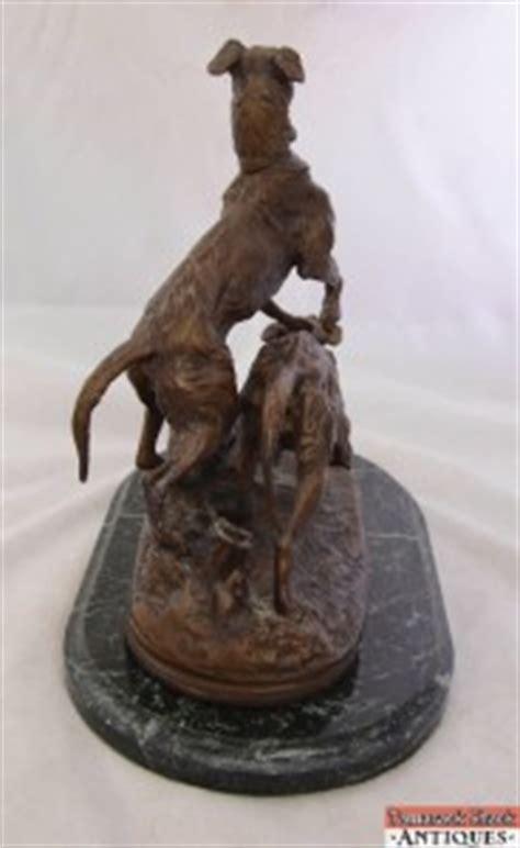 english setter dog statues pj mene bronze statue two english setter dogs leaping